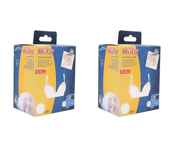 2 pack Borstkompressen voor Dag - Wit - 2 x 30st