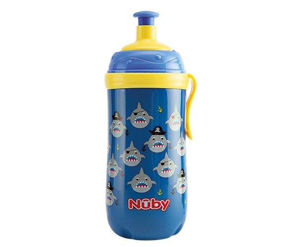 Taza Pop-Up con Clip que Brilla en la Oscuridad - 360ml - azul - 18m+